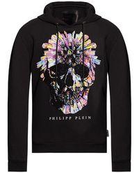 Philipp Plein Embellished Hoodie - Zwart