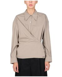 Lemaire Twisted Shirt - Grijs