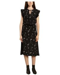 By Malene Birger Spaine Swallow Print Dress - Zwart