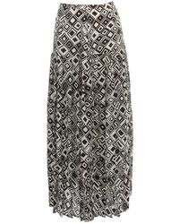 RIXO London Skirt Pleated Midi - Zwart