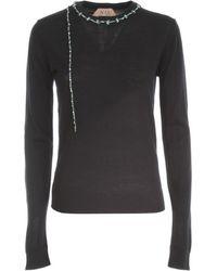 N°21 Merino Crew Neck Sweater - Zwart