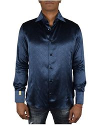Billionaire Flavio Lion Shirt - Blauw