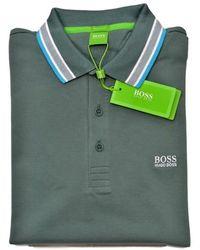 BOSS by Hugo Boss Regular Fit Model Paddy Polo In Pique - Groen