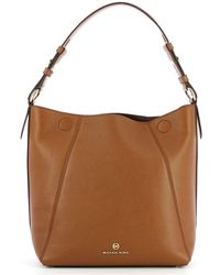 Michael Kors Lucy Medium Hobo Bag In Leather - Bruin