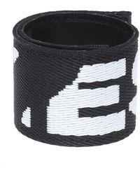 DIESEL Logo-embroidered Bracelet - Zwart