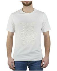 Corneliani Tee-shirt manches courtes a motifs - Blanco