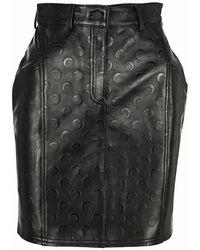 Marine Serre Mini Skirt S006ss21wle0007 - Zwart