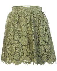 Valentino - Lace A-Line Skirt - Lyst