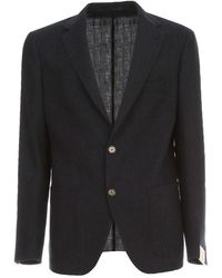 Eleventy - Double Breasted Jacket Raw Cut - Lyst