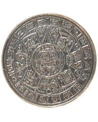 Midgard Paris Mayan Calendar Brass Ring - Grijs