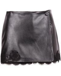 Ermanno Scervino Firenze Skirt With Lace Details - Zwart