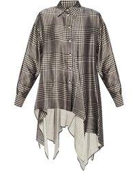 MM6 by Maison Martin Margiela Asymmetric Shirt - Zwart