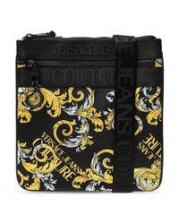 Versace Jeans Patterned Shoulder Bag - Zwart