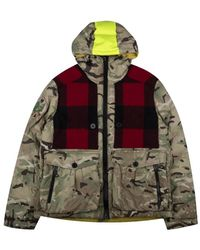 Griffin Hooded Down Jacket - Camo - Naturel