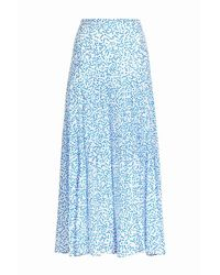 RIXO London Claire Gonna Skirt - Blauw