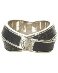Louis Vuitton Tweedehands Monogram Eclipse Ring Metaal Messing - Zwart