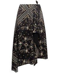 AllSaints 'Maia' asymmetrical skirt - Nero