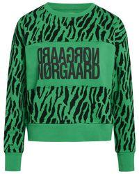 Mads Nørgaard Tilvina Print Sweatshirt 200514 - Groen