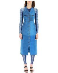Marine Serre Dress - Blauw