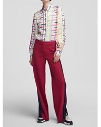 Karl Lagerfeld High waisted wide leg trousers Rosa