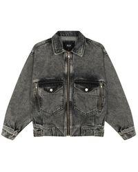 Alix The Label Denim jacket - 2107432002-917 - Grau