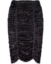 Ganni Dress With Denuded Shoulders - Zwart