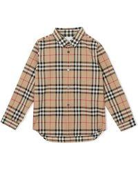 Burberry Mini Check Vintage Fredrick Shirt - Naturel