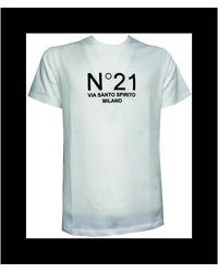 N°21 T-Shirt Stampa - Bianco