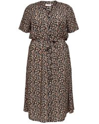 Only Carmakoma Carlolliemma Ss Dress - Zwart