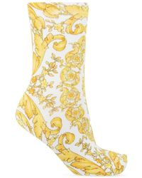 Versace Patterned Sokken - Geel