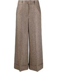 Peserico Wide-leg trousers - Braun