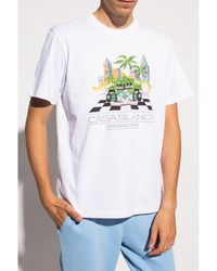 CASABLANCA Logo T-shirt Blanco
