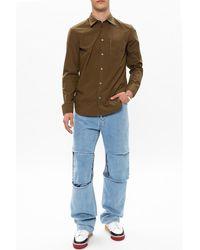 Raf Simons - Raw edge jeans Azul - Lyst