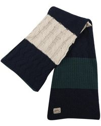 RVLT College Striped Scarf - Noir