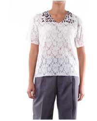 MM6 by Maison Martin Margiela S32Gc0556S52750 V-neck blouse - Bianco