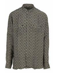 Balmain Shirt Vh0hu006i684 - Zwart