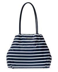 Hermès Striped Tote Bag - Blauw