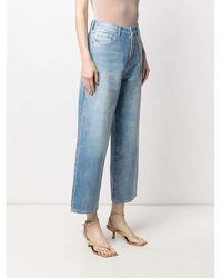 Emporio Armani Cropped Jeans Azul