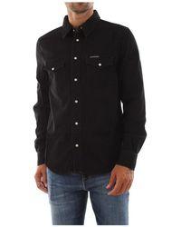 Calvin Klein J30j315521 Western Shirt - Zwart