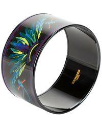 Hermès Tweedehands Limited Email Imprimé Armband - Zwart