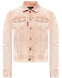 DSquared² Gemerkte Denim Jacket - Roze
