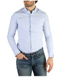 Versace J30j304860 Overhemd - Blauw