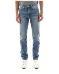 Calvin Klein J30j308192 Slim West Jeans Men Denim Medium Blue - Blauw