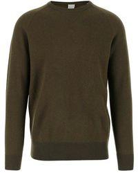 Aspesi Sweater Round Neck Long Sleeves Ribbed Edges Regular Fit - Groen