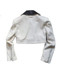 Jean Paul Gaultier Runway Biker Jacket Blanco
