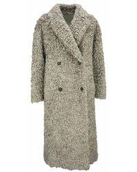 Brunello Cucinelli Mohair And Wool Coat - Grijs