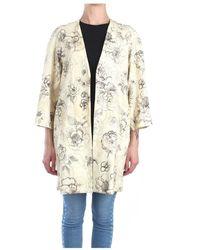 Erika Cavallini Semi Couture P9pu01 Long Cardigan - Naturel