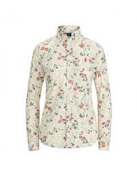 Ralph Lauren Chemise Oxford fleuri - Blanc