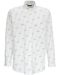 Balenciaga - Shirt with allover Logo Print - Lyst