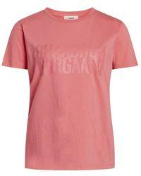 Mads Nørgaard Single Organic Trenda T-shirt - Rosa